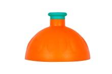 Víčko oranžové/zátka zelená tyrkys