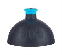 Víčko černé/zátka modrá fluo